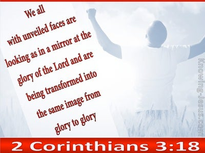 2 Corinthians 3:18 From Glory To Glory (red)